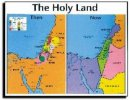 Holy Land Then And Now Wall Chart Laminated