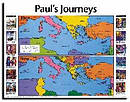 Pauls Journeys Then And Now Wall Chart Laminated