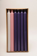Purple, White and Pink Advent Candle Set (1 1/8