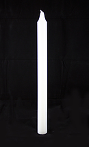 White Advent Candle Plain (Each)