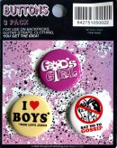Witness Badges God's Girl - Pack of 3