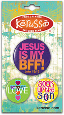 Jesus is my BFF Badges - Set of 3