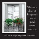 When One Door of Happiness Closes Magnetic Picture Frame
