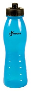 Sporty Plastic Water Bottle: Blue Strength