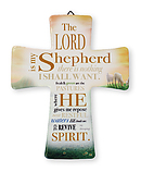The Lord is my Shepherd Porcelain Cross