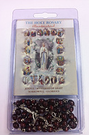 Brown Wooden Rosary with Illustrated Book