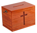 Small Lockable Offering Box (Natural)