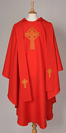 Red Celtic Cross Chasuble / Stole