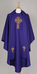 Black Friars Purple Celtic Cross Chasuble/ Stole