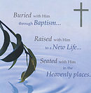 Buried with Him Through Baptism - Single Card