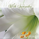 With Sympathy Single Card