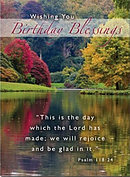 Birthday Blessings Cards - Pack of 4