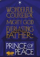 Wonderful Counsellor Charity Christmas Cards Pack of 10