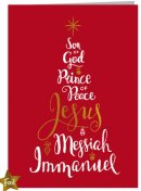 Names of Jesus Charity Christmas Cards Pack of 10