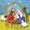Nativity Christmas Cards Pack of 18