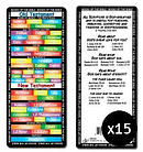 Books of the Bible Bookmarks Pack of 15
