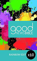 Rainbow Good News Children's Bible Pack of 10 Hardback