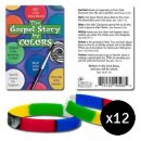 Gospel Story Silicone Bracelet and Card Pack of 12