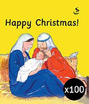 Happy Christmas pack of 100