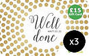 Well Done £15 Gift Cards 3 Pack