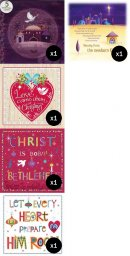 Mixed Christmas Cards bundle - 50 cards over 5 designs