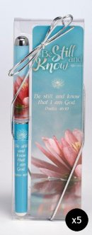 Be Still and Know Bookmark and Pen Set - Pack of 5