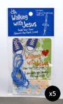 Walking with Jesus Beaded Cross Activity - Pack of 5