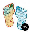 Footprints Bookmark - Pack of 5