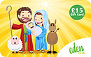 £15 Mary Joseph and Jesus Gift Card