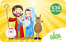 £30 Mary Joseph and Jesus Gift Card