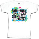 Christ Is The Cure Fitted T Shirt: White, Female Medium