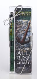 Anchored in Christ Pen and Bookmark Set