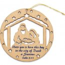 Nativity Scene Wooden Hanging Decoration