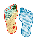 Footprints Bookmark