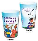 Jesus Lives! Let's Celebrate! Plastic Tumbler (Single)