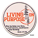 Living on Purpose Absorbant Ceramic Car Coasters