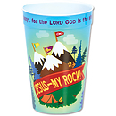 Jesus My Rock Plastic Tumbler (Single)
