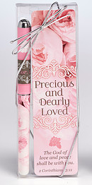 Precious and Dearly Loved Pen and Bookmark Set