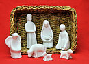 White Clay Nativity Set