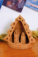 Terracotta Nativity Scene