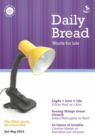 Daily Bread July - Sept 2012