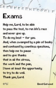Exam prayer for students http www eden co uk shop exams credit card