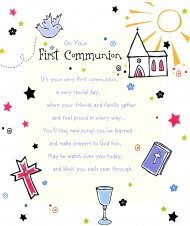 On Your First Holy Communion Card - Single