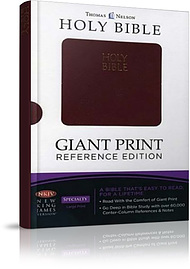 NKJV Budget Reference Bible: Burgundy, Giant Print