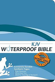 KJV Waterproof Bible Blue