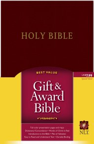 NLT Gift & Award Bible: Burgundy, Imitation Leather