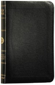 ESV Personal Size Reference Bible: Black, Genuine Leather