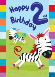 2nd Birthday Card - Pack of 6 | Free Delivery @ Eden.co