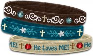 He Loves Me Stretch Bangles - Set of 3