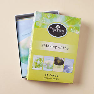 Thinking of You - Sunny Sentiments - 12 Boxed Cards